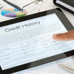 Close up of Credit History form