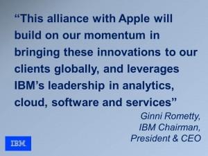 IBM Quote re Apple