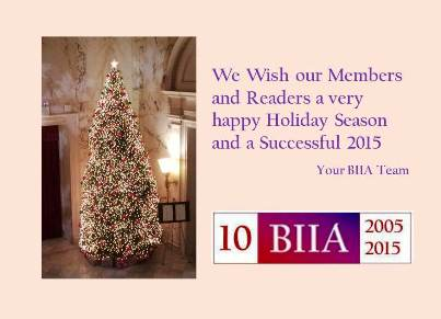 Seasons Greetings from BIIA