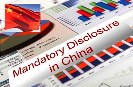 Corporate Mandatory Disclosure in China