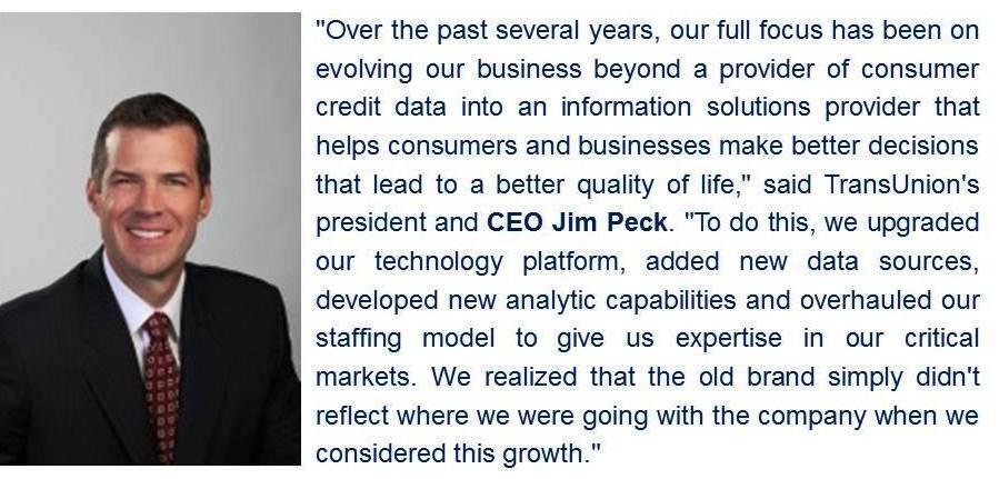 TransUnion Jan 2015 Quote. Jim Peck