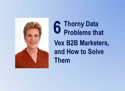 6 Thorny Data Problems that Vex B2B Marketers, and How to Solve Them