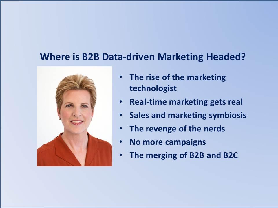 Where is B2B Data-driven Marketing Headed?