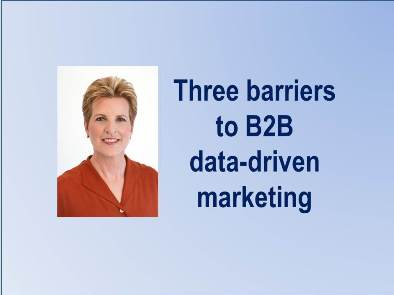 Three barriers to B2B data-driven marketing