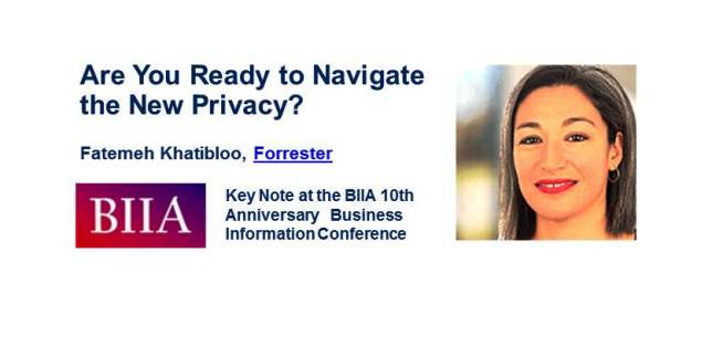 Privacy:  One of 10 Reasons for Attending the 10th Anniversary Business Information Conference