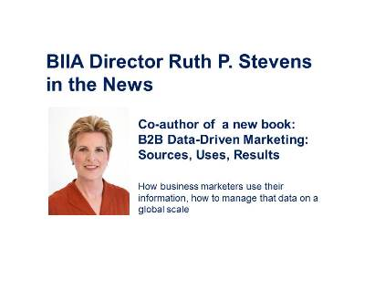 BIIA Director Ruth P. Stevens Publishes New Book