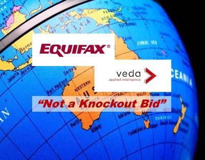 Veda's largest Shareholder Says Equifax's Bid for Veda Falls Short