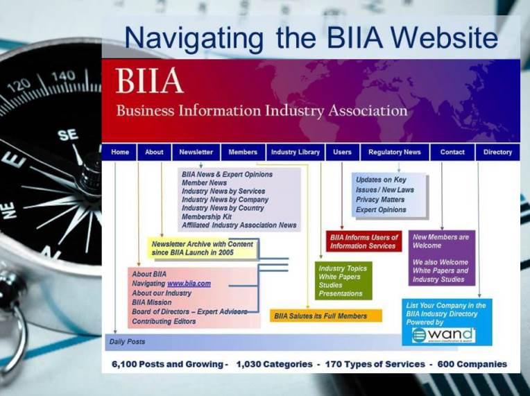 Navigating the BIIA Website
