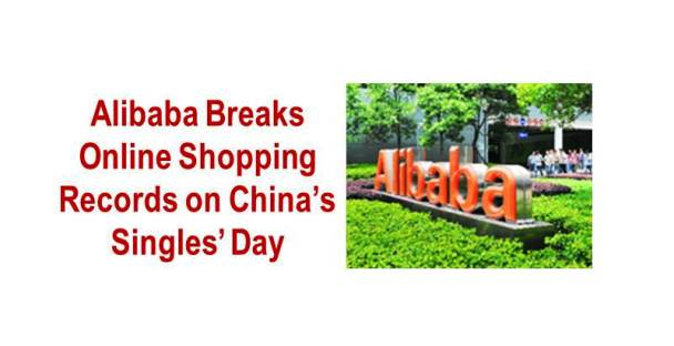Alibaba Breaks Online Shopping Records on China's Singles' Day