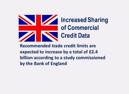 UK Landmark Decision of Increased Commercial Credit Data Sharing on SMEs Expected to Boost Credit Lending by Total of £2.4 billion