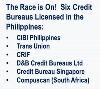 Philippine Credit Bureaus Licensed