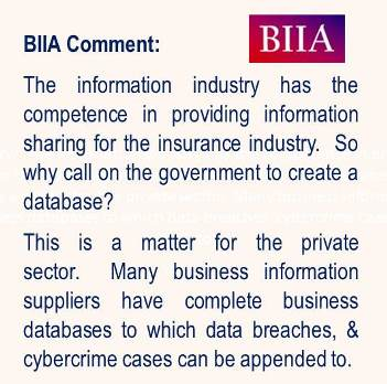 BIIA quote on cyber database