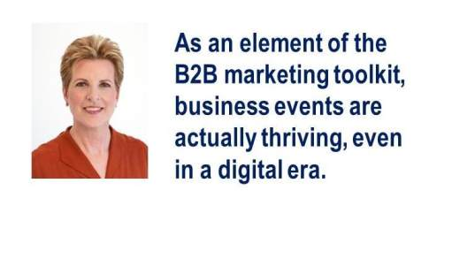 What's the Killer App in B2B Marketing? Face-to-face events