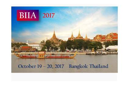 Keep the Date:  BIIA 2017 Biennial Conference Bangkok, Thailand October 19 and 20, 2017