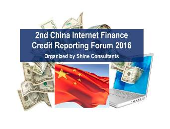 BIIA in Action:  China Internet Finance Credit Reporting Forum 2016 (Dec 1-2)