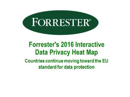 Forrester Research Introduces Forrester's 2016 Interactive Data Privacy Heat Map