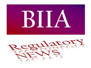 BIIA Regulatory Newsletter October 2018 (27th) Edition