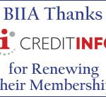 BIIA Thanks Credit Info for Renewing Their Membership