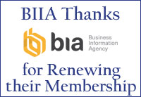 BIIA Thanks BIA for Renewing Their Membership