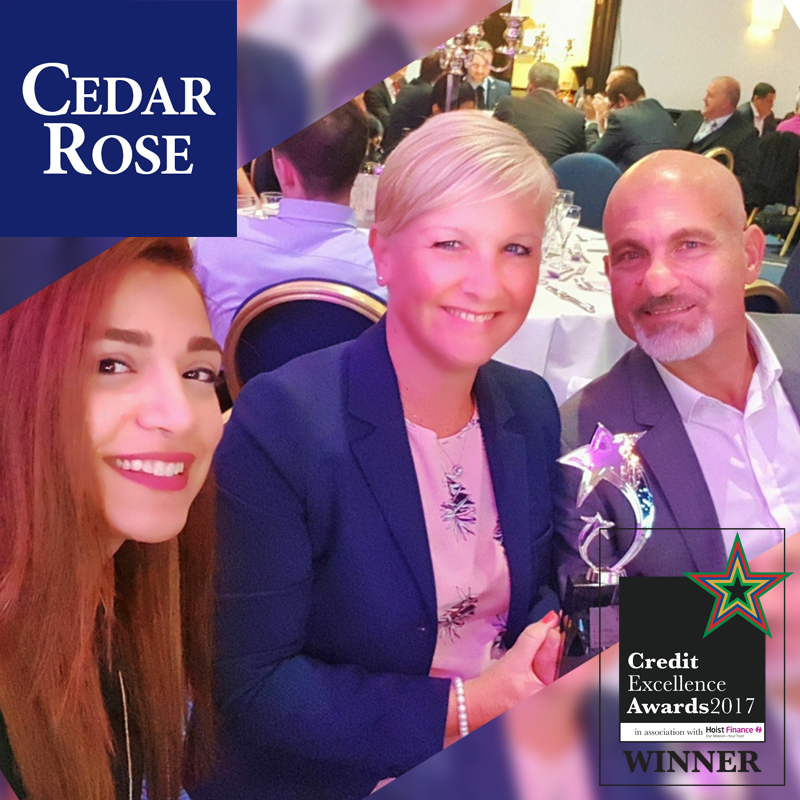 Cedar Rose Wins CCR Credit Excellence Award