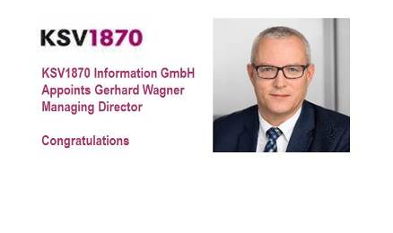 KSV1870 Appoints Gerhard Wagner Managing Director of KSV1870 Information GmbH