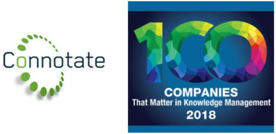 Connotate Named to KMWorld's 100 Companies that Matter in Knowledge Management of 2018