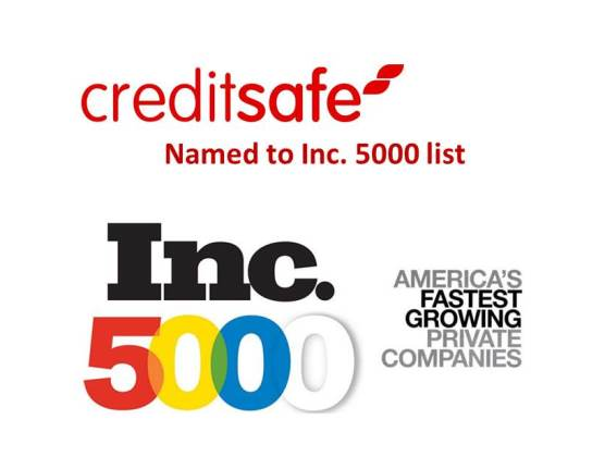 Creditsafe USA Named to Inc. 5000 list – For 2nd Year in a Row