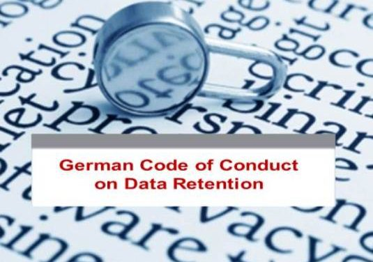German Code of Conduct on Data Retention