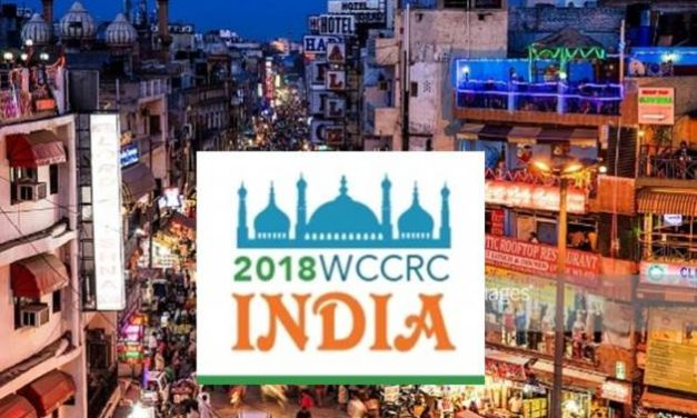 Keep the Date:  WCCRC2018 New Delhi, India – September 23 – 25, 2018