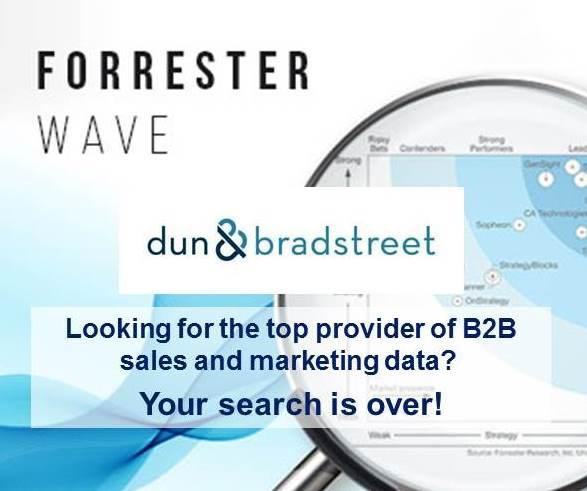 Forrester Wave: Dun & Bradstreet Ranks as a Leader in B2B Sales & Marketing Data