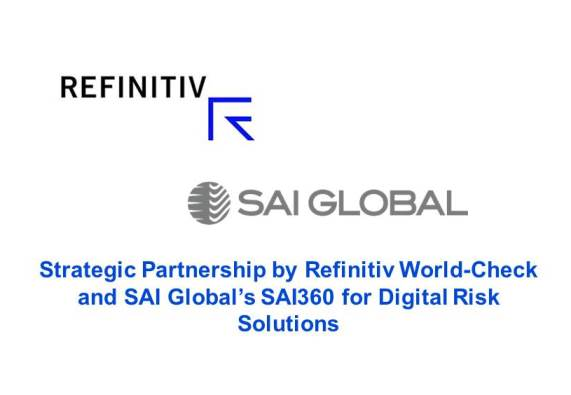 Refinitiv & SAI Global Collaborate to Fight Financial Crime