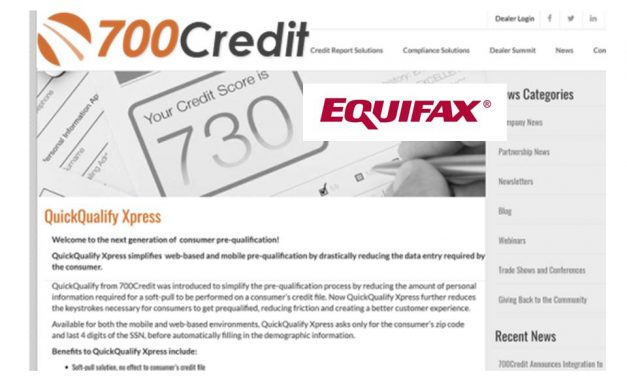 700Credit, Equifax Partner on Pre-Qualification Solution
