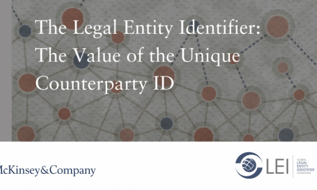 McKinsey & Company and GLEIF White Paper: Creating Business Value with the Legal Entity Identifie