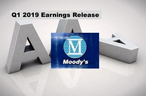 Moody's Q1 2019 Revenues Up 1%