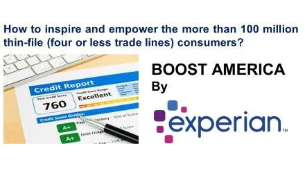 Experian Rolls Out Financial Inclusion Campaign to Fill Thin Files With BOOST AMERICA