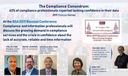 BIIA 2019 Biennial Conference:  Defusing the Ticking Time Bomb of Bad Data in AML Compliance