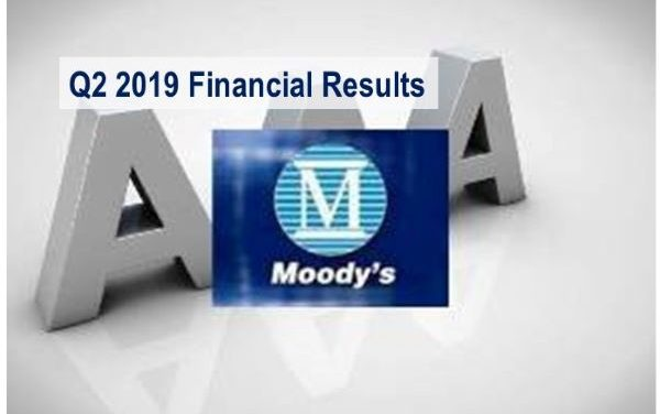 Moody's Q2 2019 Revenues Up 3%