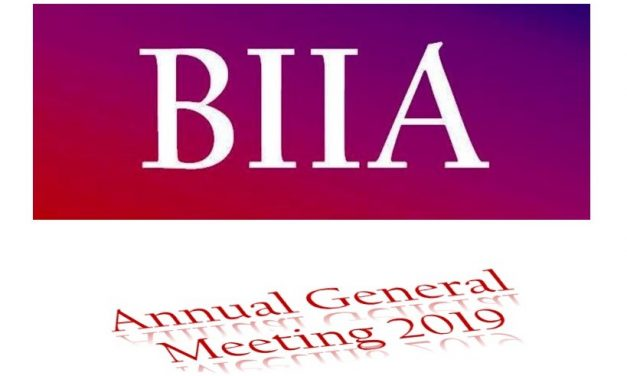 BIIA Annual General Meeting October 30th 2019, Okura Prestige Hotel, Bangkok, Thailand