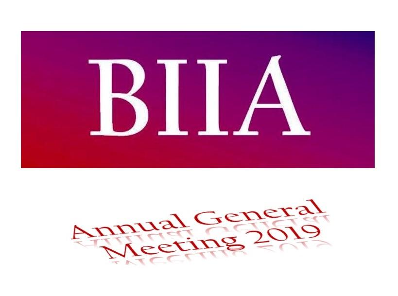 BIIA Annual General Meeting October 30th 2019, Okura Prestige Hotel, Bangkok, Thailand