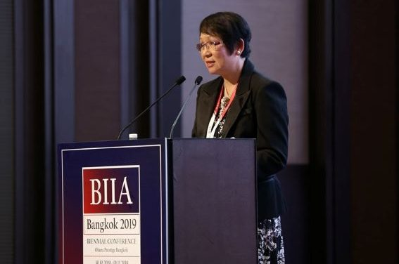 Welcome Address of Jane Foo, Chairman of BIIA at the BIIA 2019 Biennial Conference
