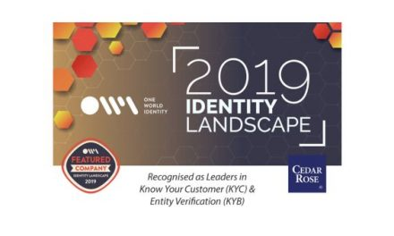 Cedar Rose Positioned as Leader in Know Your Customer & Entity Verification in One World Identity's 2019 Identity Industry Landscape