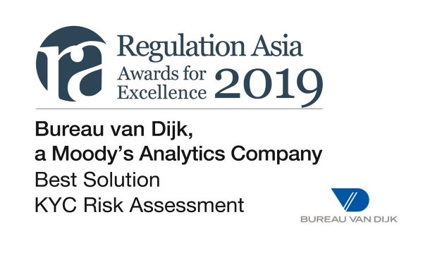 Bureau van Dijk Wins Best Solution in KYC Risk Assessment at Regulation Asia Awards for Excellence