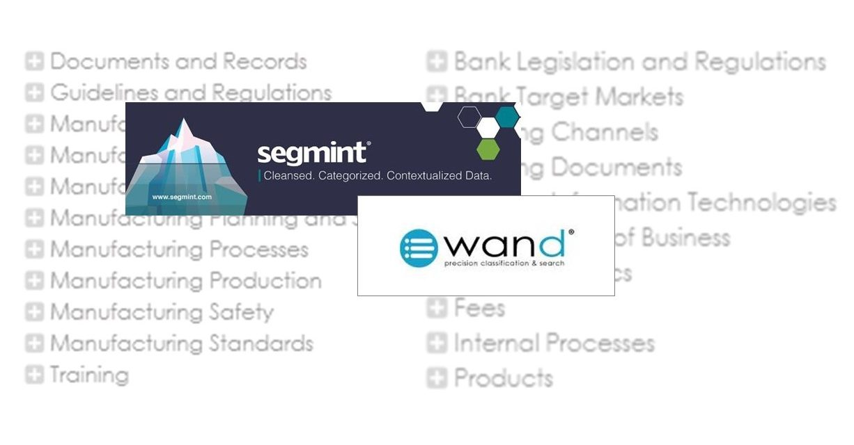 Segmint to Acquire WAND's Product and Service Taxonomy Division