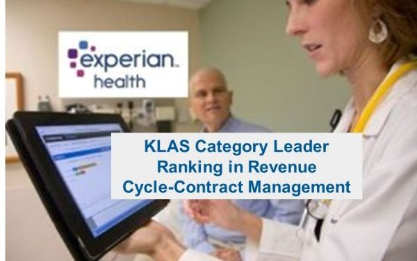 Experian Health Awarded KLAS Category Leader ranking in Revenue Cycle-Contract Management