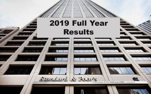 S&P Global Full Year 2019 Revenue up 7% – 4th Quarter up 13%
