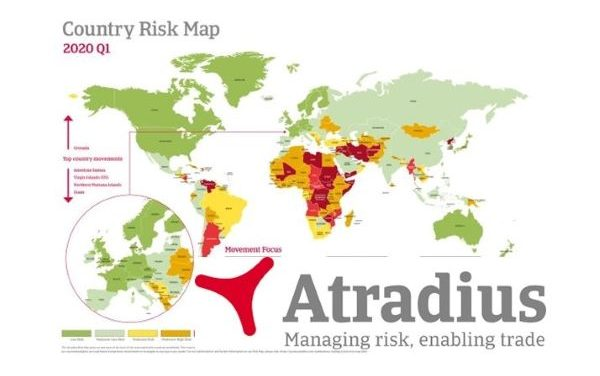 Atradius Country Risk Map Q1 2020