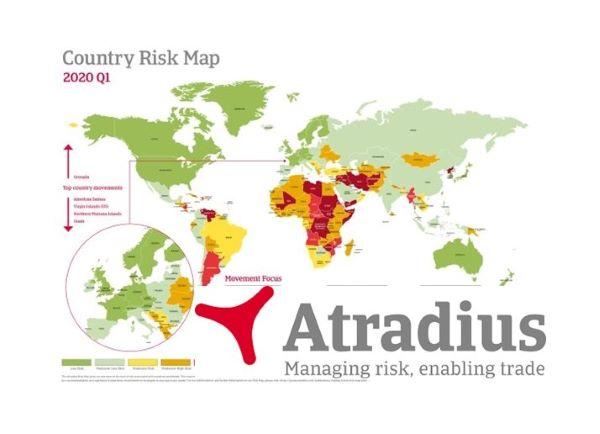 Atradius Country Risk Map Q1 2020