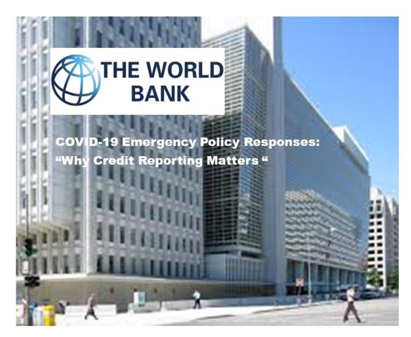 World Bank Group Releases Policy Note on Credit Reporting Relating to COVID-19