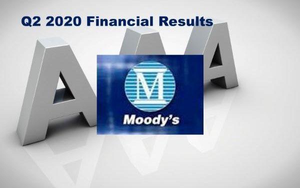 Moody's Corporation Q2 2020 Revenue Up 18%
