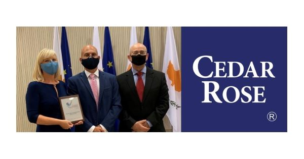 Cedar Rose Receives the Cyprus Special Export Award for Services